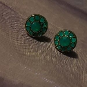 crystal studs Jewelry - Turquoise Crystal Studs